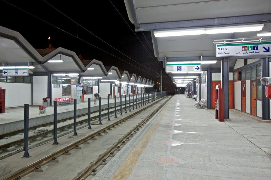 معماری ایستگاه شماره 12 قطار شهری مشهد