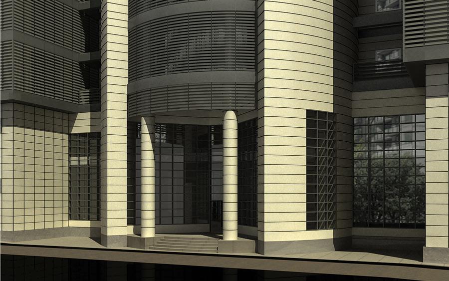 معماری ساختمان اداری طالقانی