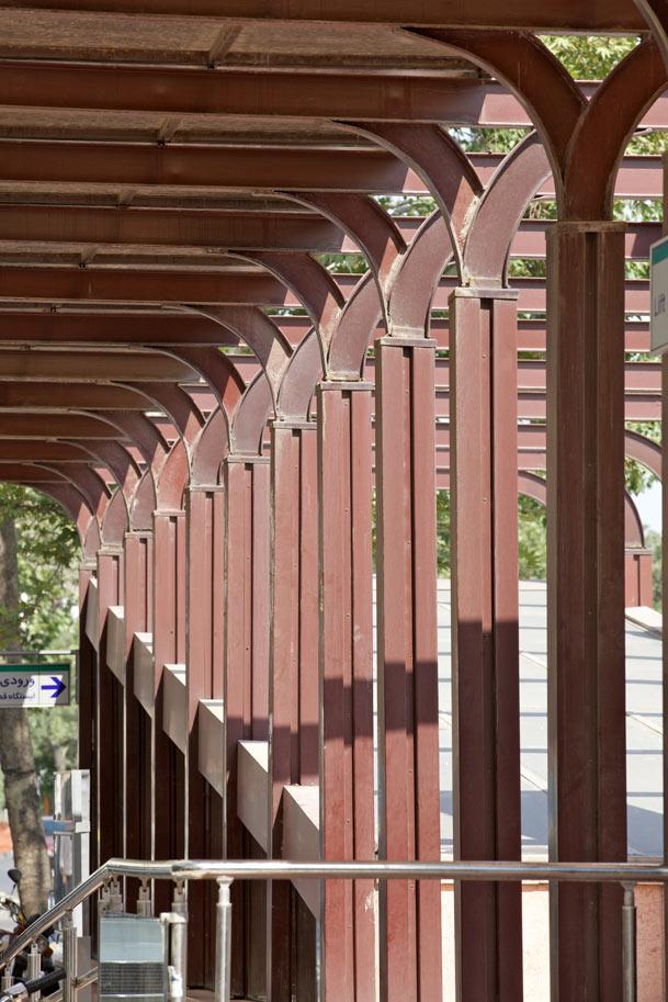 معماری ایستگاه شماره 7 قطار مشهد