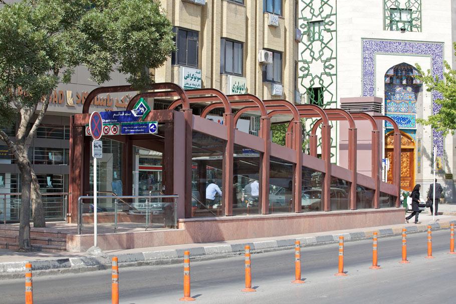 معماری ایستگاه شماره 7 قطار شهری مشهد
