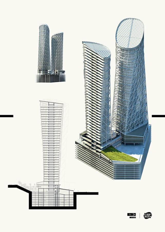 معماری برجهای حکیم