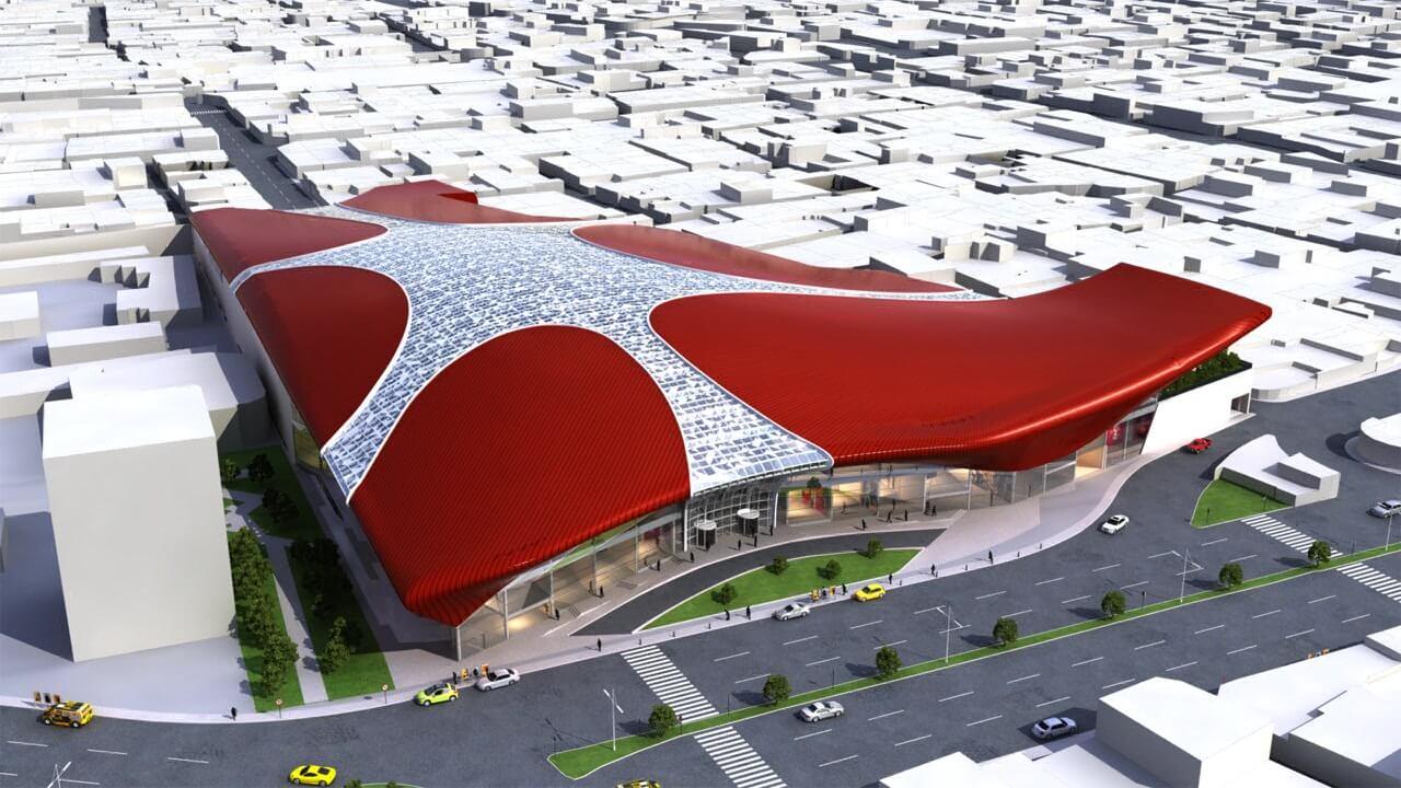 معماری مجموعه تجاری تفریحی شکوفه
