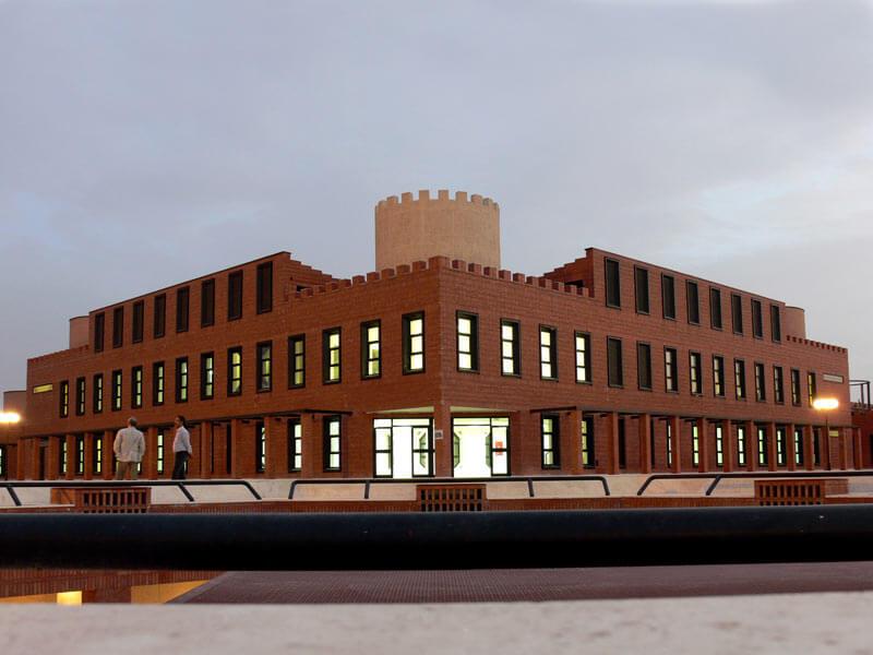 معماری مجموعه ساختمان های اداری بم